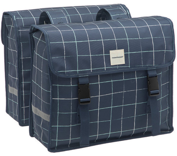 New Looxs Doppelpacktasche Fiori Double Check 30l blau