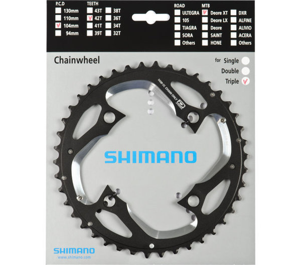 Shimano Kettenblätter DEORE XT FC-M780 42 Zähne (AE)